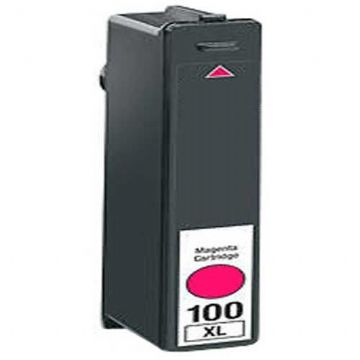 Refurbished High Capacity Magenta Lexmark 100XL Ink Cartridge (Replaces 014N1070E Ink)